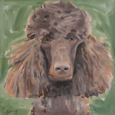 Charlie, 8x8 oil on stretched linen